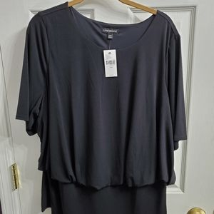 Lane Bryant plus size banded waist blouse sz 18/20